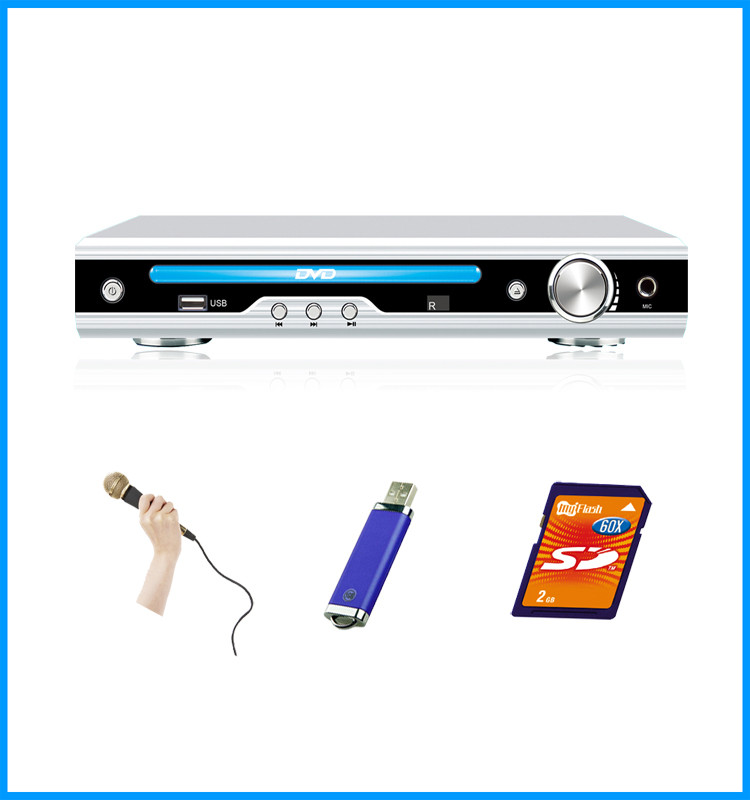 2017 hot sell home DVD player with MIC slot
