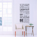2016 Home Decor Words Vinyl Sticker Wholesale Custom Wall Sticker