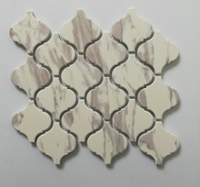Matt finish yellow lantern mosaic tile for bathroom decoration