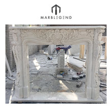 Custom design home decorative European Style marble fireplace surround