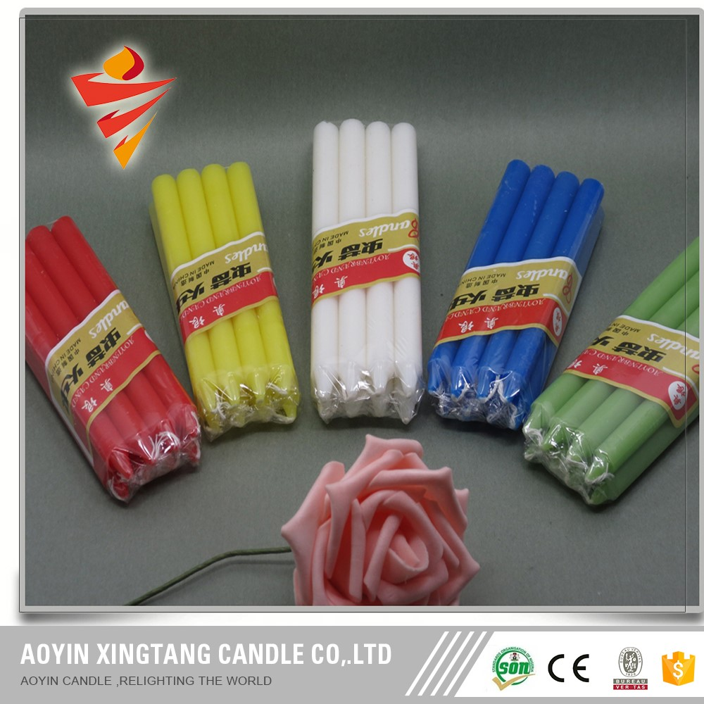 colorful stick candle for home lighing and decoration