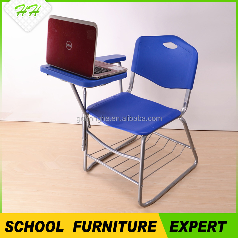C368school furniture school chair with writing pad and tablet