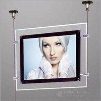 Crystal Acrylic Material Hanging Light Box for Real Estate Window Advertising Display