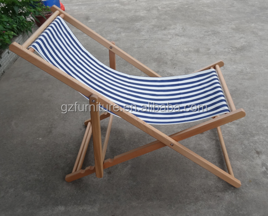 2017 Guangzhou inflatable folding slat wooden beach chair