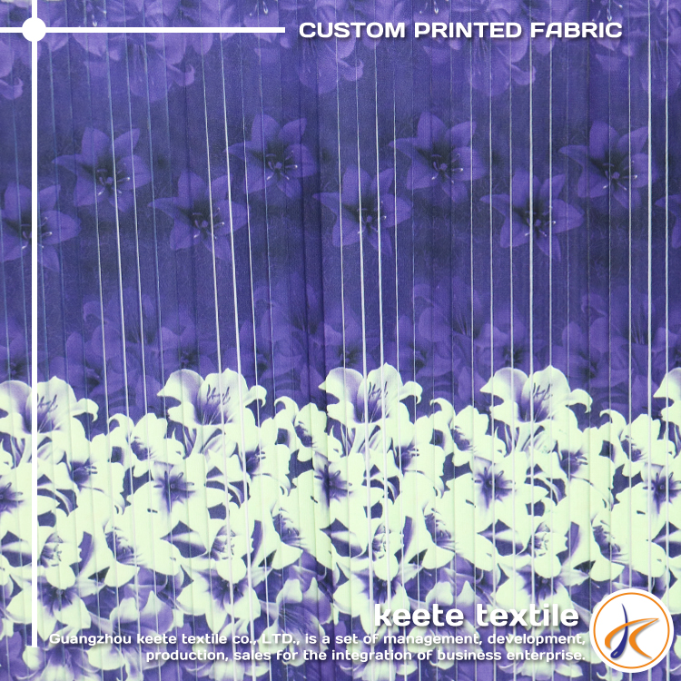 new chiffon printed fabric on sale 2015