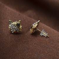 fashion jewelry yellow crystal stud earring Good quality for wholesales
