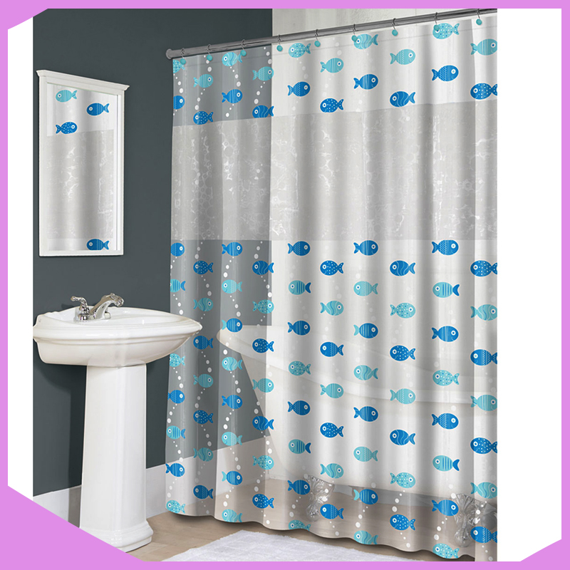 Lastest Custom Design Printing Fancy PVC Shower Curtain
