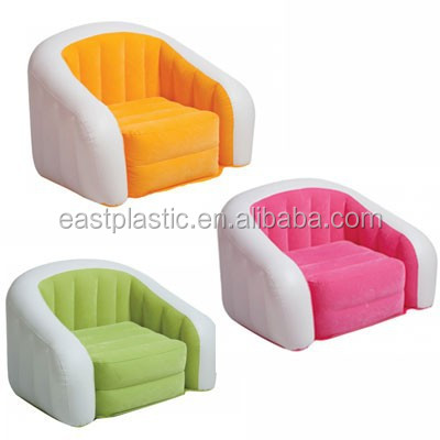 PVC air sofa kids inflatable arm chair durable inflatable sofa