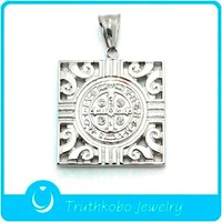 TKB-JP0275 Italian lucky charm C.S.P.B jewelry 316L stainless steel silver European Prayer pendant