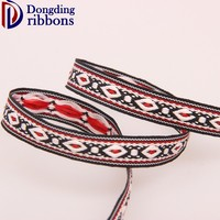 Top manufacturer provide single face woven polyester jacquard ribbon for garment accessories
