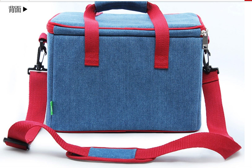 waterproof colorful 600D cooler bag lunch bag with handles and shoulder strap