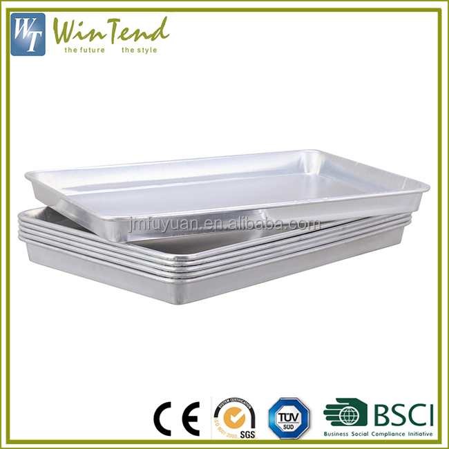 Wholesale serving trays aluminum metal fast food serving tray