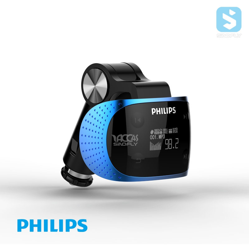 Factory price hot sale philips Mp3 with led display car radio mp3 fm am transmitter