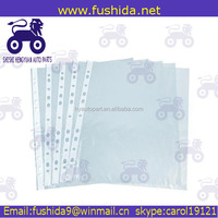 11 hole A4 size plastic pp clear file folder sheet protector for sale
