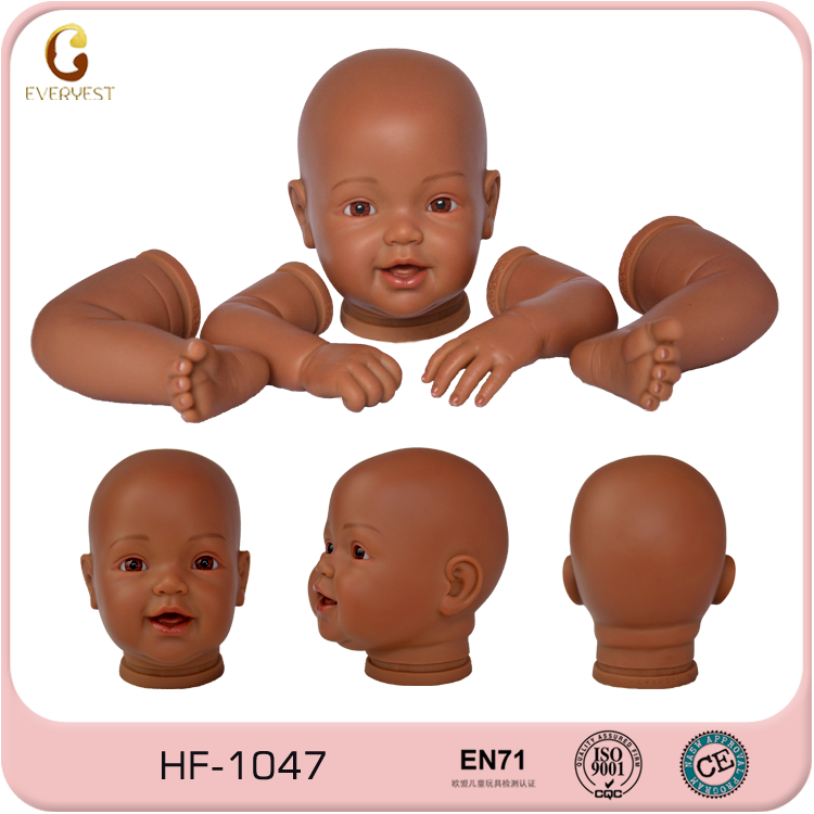 100% Handmade paint doll heads arms and legs/vinyl baby doll parts/custom vinyl doll body parts