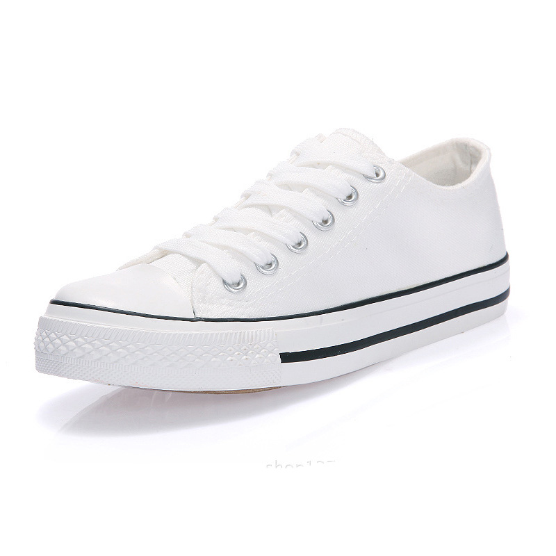 Wholesale Bulk Low Top Vulcanize White Canvas Shoes Women