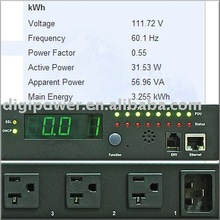 Remote Monitoring Switched, 15 Amp, 115V, 8 outlets Horizontal kWh PDU