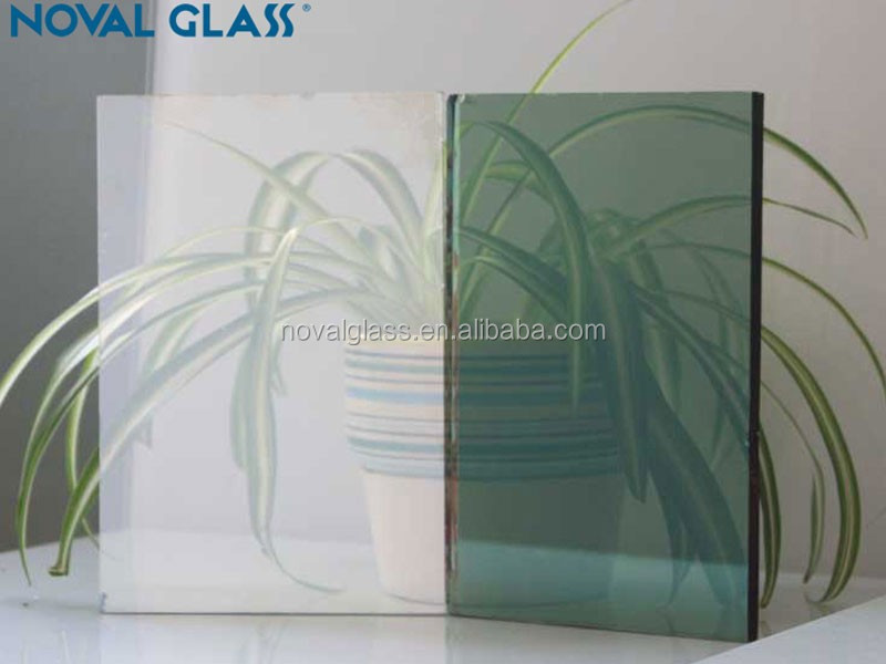3.5/4/5/5.5/6mm 3300x2140 dark green reflective glass high quality dark green reflective glass