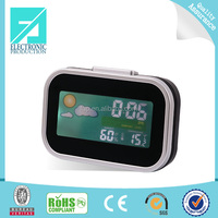 Fupu LCD desk alarm clocks with weather station and temperature and humidity / calendar clocks for elderly