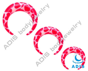 2013 new ! acrylic ear piercing crescent ,wholesale body jewelry factory
