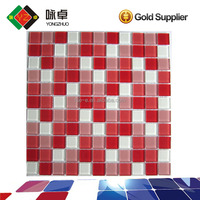 Color Mixed Glass Decorate Mosaic Tiles