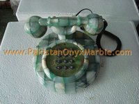 NATURAL STONE/COLORED ONYX TELEPHONE SET