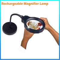 DH-88002 Manufacturer New Arrival Rechargeable 2 In 1 Datachable Solar Magnifier From China