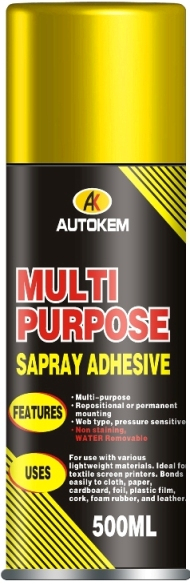 Multi purpose adhesive spray aerosol adhesive spray spray glue