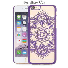 Top Quality Touch Series Gyro Flower Pattern Relief Housing Anti-Shock Protective Back Case For iPhone 6/6s TB-0104