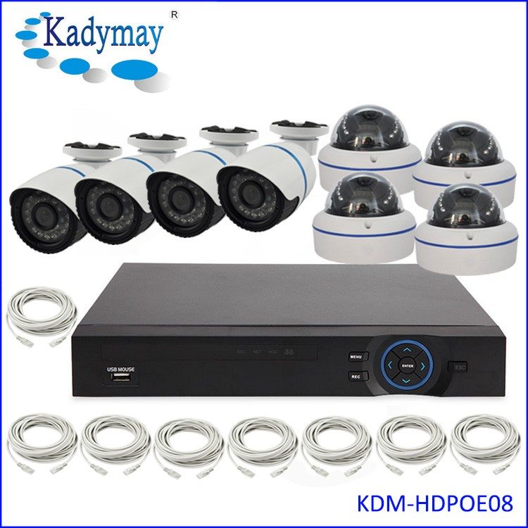 Factory Direct Security IP POE 2MP CCTV KITs 4 Channel