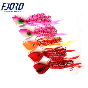 FJORD 150g In Stock High Quality Metal Fishing Jig Head With Rubber Skirts Wholesale Fishing Jigging Lure Metal Jig Head
