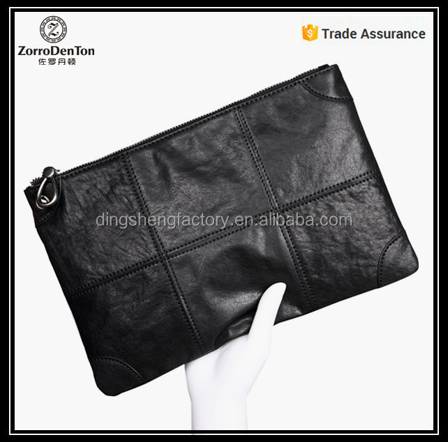 2016 fashion wholesale leather clutch bag pouch real leather men's clutch bag