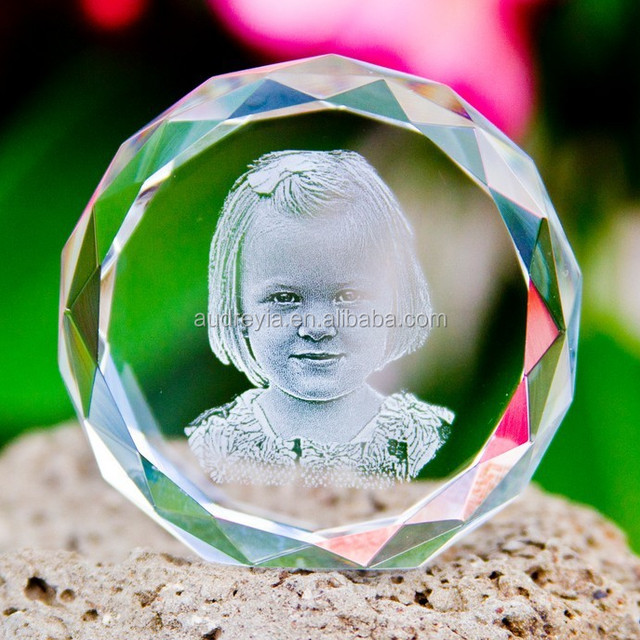 new design 3D laser photo crystal personalized souvenirs gifts