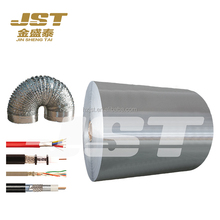 Industrial Silver coated aluminum metallized polyester film for cable and air duct