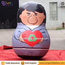 Custom inflatable cartoon roly-poly yeti tumbler for display