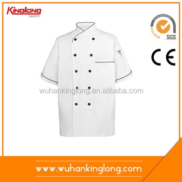 Chef Coat Short Sleeves Uniform Kitchen Jacket Shirts