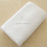 100% cotton plain weave white hotel hand towel
