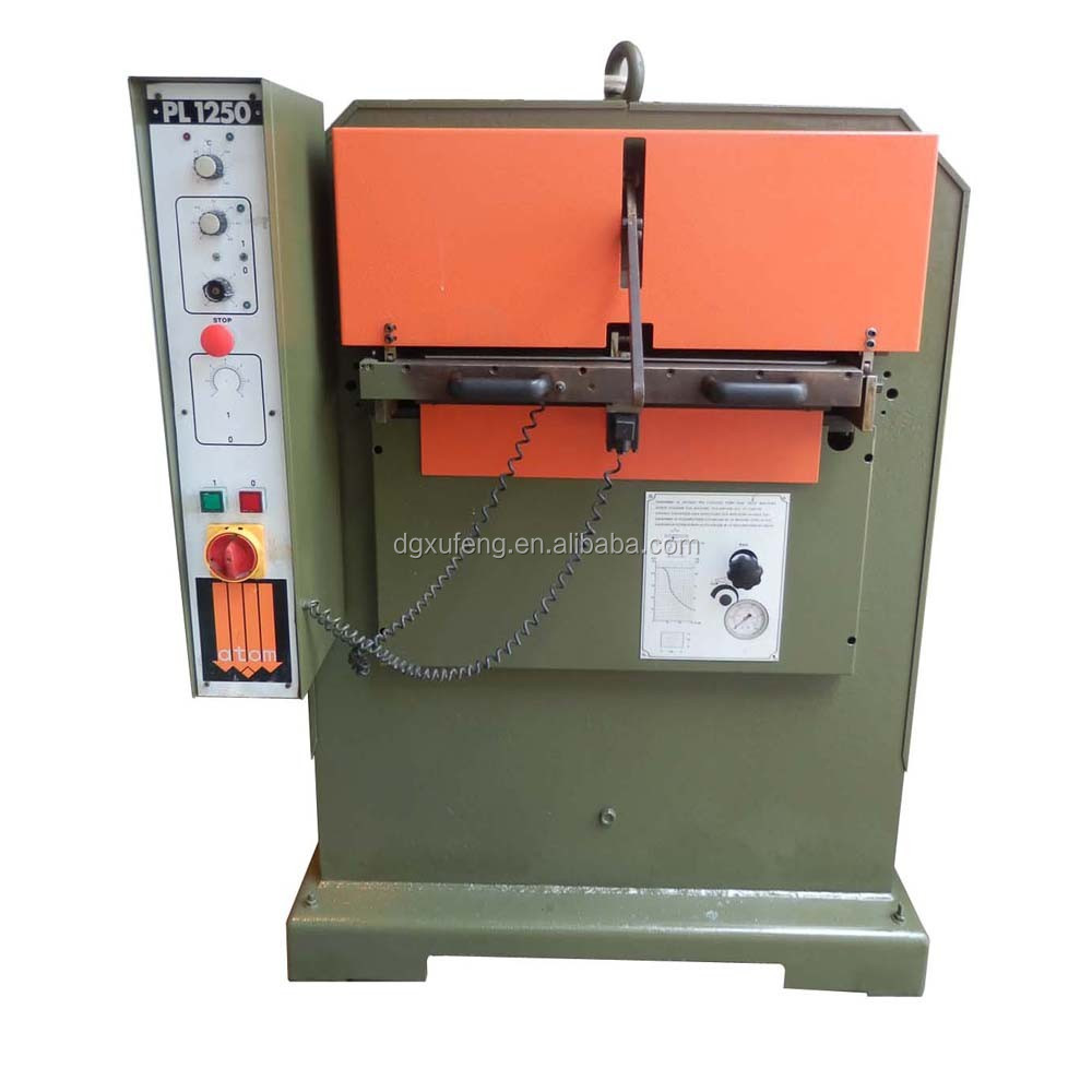leather embossing lady bag making machine