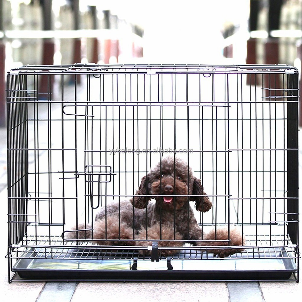 New fashion welded wire mesh dog cage singapore salet wire cage, convenient installation The big dog nest roller XL 120 * 8