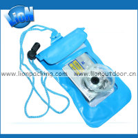 blue waterproof cases for cameras with drawstring