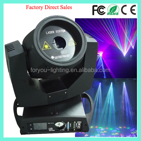 200mW 0.2W RGB Full Colour Animation Moving Head Laser Light