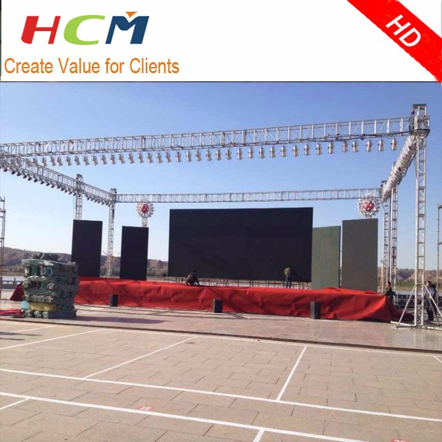 Outdoor LED Display P10 for Rental / 640x640mm Die-casting Cabinet