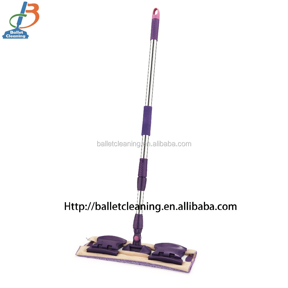 40cm aluminium frame microfiber mop High quality dust cleaning mop stainless steel handle