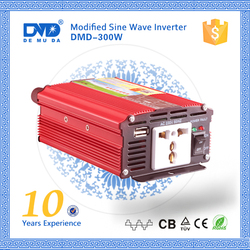 Off grid modified sine wave 50hz/60hz 300w 12v to 220v converter inverter for solar panel