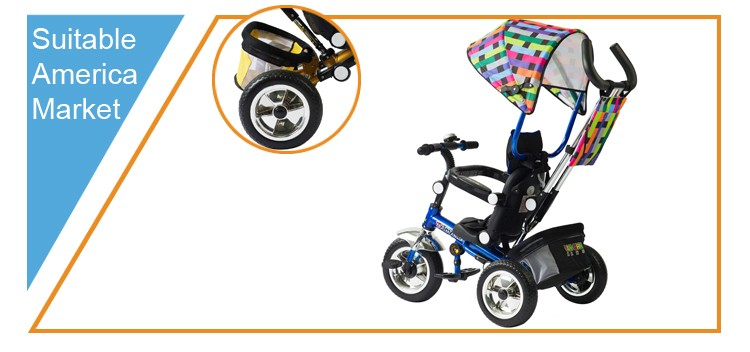China Wholesale 2017 children kids new models carrier stroller folding cheap baby tricycle