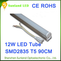 China lighting factory CE ROHS T5 12w SMD2835 japanese red tube free