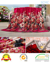 Factory price super soft colorful printed polyester flannel fleece blanket