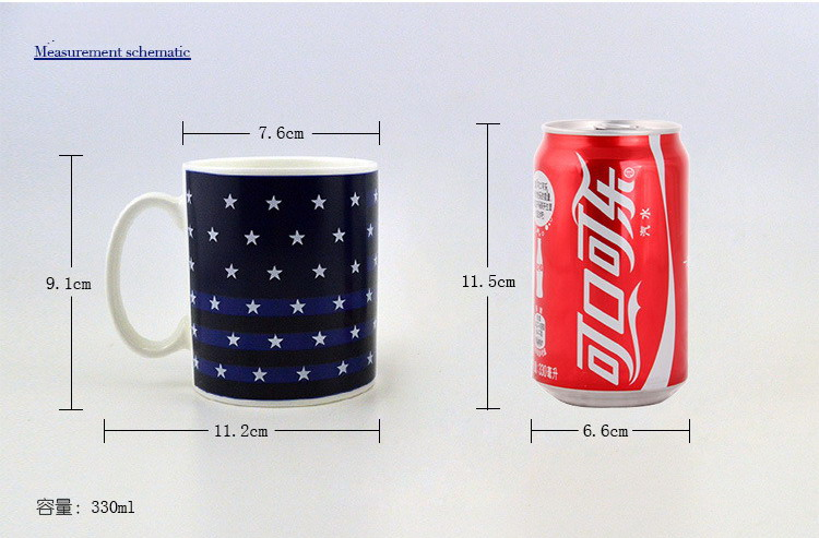 11oz 300ml sublimation magic color changing mugs navy