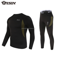 ESDY Outdoor Sports Warm Underwear Set Thermal Long Johns Army Military Fleece Underwear