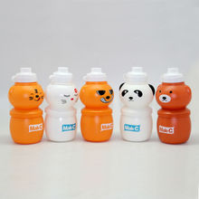 Flexible collapsible foldable cartoon panda water bottle